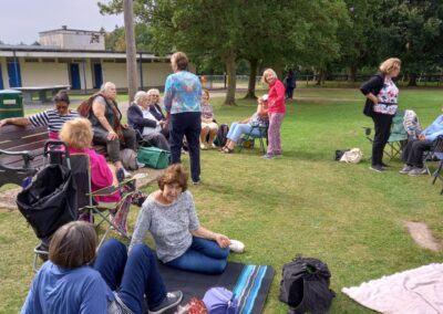 Some of the Living Mindfully community met recently for a happy catch up and picnic in Mill Hill Park