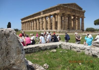 Enjoying the Temple Tour at Paestum