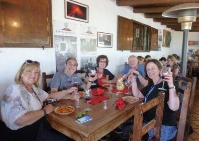 Lunch in a restaurant near Mt. Vesuvius