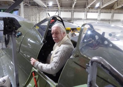 Nick Saul in a Spitfire