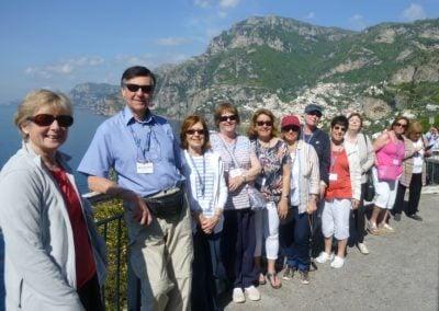 Viewing stop on the Amalfi coast